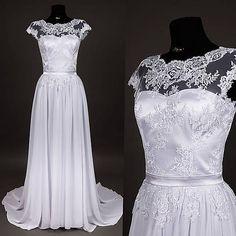 a0ab85f47c55 Svadobné šaty z tylovej krajky s vlečkou   Dyona