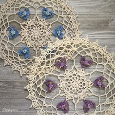 Hello :) I've made a doily using the hearts from my last post and wanted to share the pattern for it! Instead of medium weight yarn I...