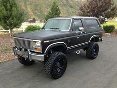 AutoTrader Classics - 1983 Ford Bronco XLT Sport Utility (SUV) Black 8 Cylinder Automatic 4 wheel drive | Classic Trucks | Inkom, ID