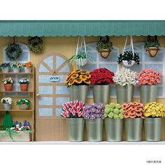 flower shop shadow box