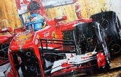 "Képtalálat a következőre: ""Painting Enzo Ferrari"" Ferrari Racing, Ferrari F1, Grand Prix, Alonso, Car Drawings, Automotive Art, Car Painting, Art Cars, Designs To Draw"
