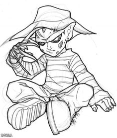 freddy krueger coloring page