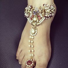 necklace transformed into anklets