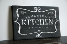 Hey, I found this really awesome Etsy listing at https://www.etsy.com/listing/197497345/personalized-kitchen-sign-with-name