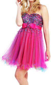 Glitter Pink Homecoming Dresses 2013