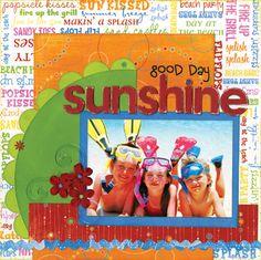 Bo Bunny Love Shack beach tropical scrapbook