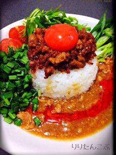 リリたんこぶ's dish photo 隠し味はポン酢❕豚コマを刻んで作った担々あんかけご飯