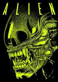 Happy alien-day my friends! May the xenomorphs always be with you! Alien 1979, Alien Film, Alien Art, Alien Vs Predator, Predator Alien, Aliens Funny, Aliens Movie, Arte Horror, Horror Art