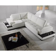 Divani Casa T71   Modern Leather Sectional Sofa