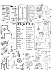 furniture 3 - ESL worksheet by angelamoreyra Teaching English Grammar, English Grammar Worksheets, English Resources, English Activities, Vocabulary Worksheets, English Vocabulary, English Fun, English Writing, English Class