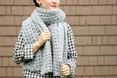 Crochet Shawl Scarf (Free Pattern) // Delia Creates