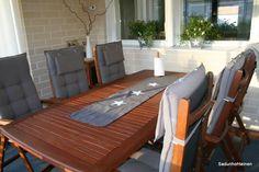 lasitettu terassi Outdoor Furniture Sets, Outdoor Decor, Terrace, Home Decor, Balcony, Decoration Home, Patio, Room Decor, Home Interior Design