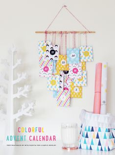 Printable Colourful Advent Calendar on A Subtle Revelry