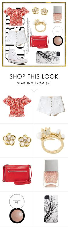 """Cherry Blossom 🌷"" by nagrom7 ❤ liked on Polyvore featuring Hollister Co., Shaun Leane, Relic, Nails Inc., e.l.f. and Converse"