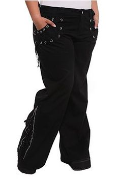 Tripp Black Lace-Up Dark Street Pants Plus Size  $68.00