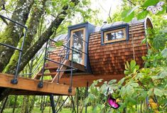 Live in Harmony with Nature in These Super Sexy Tree House Cabins Live in Harmony with Nature in These Super Sexy Tree House Cabins by Bower House | Inhabitat - Sustainable Design Innovation, Eco Architecture, Green Building<br> Eco-friendly cabins, custom made by Bower House Eco Cabins, make for a perfect off grid escape for the tree hugger inside of us all.