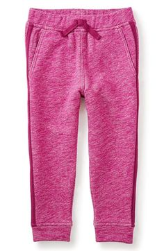 Free shipping and returns on Tea Collection Side Stripe Jogger Pants (Toddler Girls, Little Girls & Big Girls) at Nordstrom.com. A side stripe adds to the sporty style of all-cotton jogger pants in a marled knit with an easy elastic waist and ribbed cuffs.