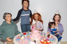 """Barbie Happy Family Lot Anniversaire """"Rainbow"""" by sunnyshop211 on Etsy"""