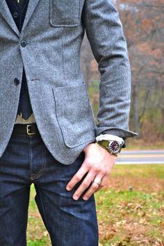 ADD diy <3 <3 www.customweddingprintables.com ... blue-grey wool sports coat