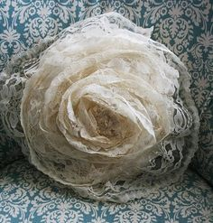 Lace Rose Pillow by christyc