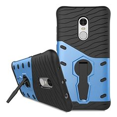 Xiaomi Redmi Note 4 Hybrid Case,Dual Layer Protection Shockproof Hybrid Rugged Case Hard Shell Cover with Swivel Kickstand for 5.5'' Xiaomi Redmi Note 4 [Not for 5.0'' Xiaomi Redmi 4] (Navy Blue) -- Awesome products selected by Anna Churchill
