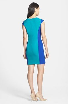 Marc New York by Andrew Marc Colorblock Sheath Dress (Regular & Petite)