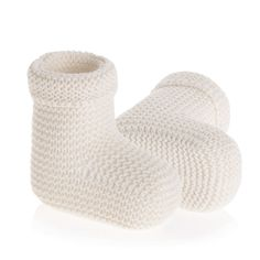 Naturapura Organic knitted booties – Bonjour Baby Baskets - Luxury Baby Gifts