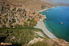 Crete: the beaches from Orthi Ammo to Preveli Creta, Greece Islands, Campsite, Beaches, Rv, Tourism, Places To Visit, My Favorite Things, World