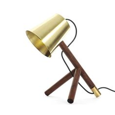 David Krynauw Little Man – Brass Tambotie from Dazzling Desk Lamps Desk Lamp, Table Lamp, Folding Desk, Marriage Material, Coat Stands, Wood Lamps, Little Man, Innovation Design, Industrial Design