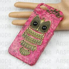 Owl with Brass Branch Hard Case Cover for iPhone 5 by ansmallhope, $8.99