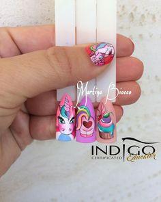 Dope Nails, Fun Nails, Unicorn Nails Designs, Anime Nails, Painted Nail Art, Hair And Beauty Salon, Disney Nails, Nail Swag, Nail Arts