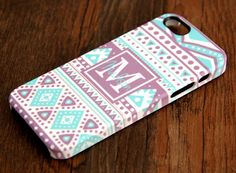 Stylish Geometric Monogram iPhone 6 Plus iPhone 6 iPhone 5S iPhone 5C iPhone 5/4S/4 3D Wrap Case