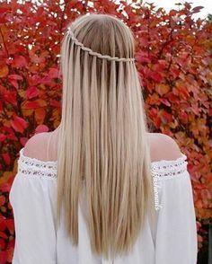 Inspirasjon: 32 frisyrer til å adoptere når du har langt hår! Winter Hairstyles, Pretty Hairstyles, Girl Hairstyles, Braided Hairstyles, Hairstyle Braid, Hairstyles 2016, School Hairstyles, Beautiful Braids, Super Hair
