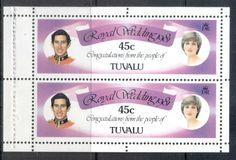 Tuvalu 1981 Royal Wedding, Charles & Diana booklet pane 45c MUH