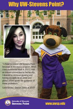 Catie Smiley, class of 2015, explains what made her mind up about attending UW-Stevens Point.