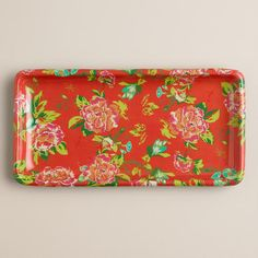 One of my favorite discoveries at WorldMarket.com: Coral Floral Bath Tray