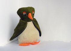 Stoere pinguïn knuffel, handgemaakt