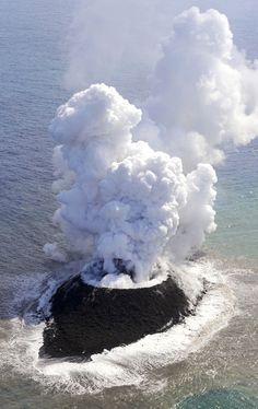 New Creation in Nishinoshima Island, Japan from Karapaia