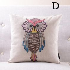 Personalized cartoon owl pillows for sofa