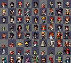 excellent character pixel art from tigsource