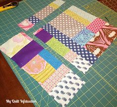 When I blogged about my scrappy improv blocks , I had several people mention that they were afraid to try it with their own scraps, since th...