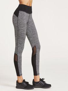 dbe5015187f14 Contrast Marled Knit Mesh Insert LeggingsFor Women-romwe Sports Leggings, Yoga  Leggings, Running