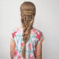 Half crown braid combo💖