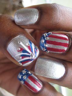 4th of july nails birthday nails, nail polish, fourth of july, captain america, nail designs, nail art ideas, nail arts, 4th of july, patriotic nails