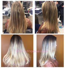 Root shade: 40g 4n + 6g DK B/V + 10 vol  - let sit 20 minutes   -shampoo & dry hair-   Balayage: 30g ENL + 60g 20 vol - 1/2inch subsections, painted V shape & blended up    Toner: 40g ELC + 2g Pastel V + 80g LCTA