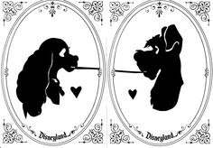 Maybe change the sihlouettes to be a little different than lady and the tramp for the invites