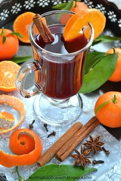 Wino grzane z mandarynkami