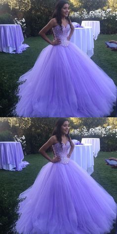 Sparkly Lavender Tulle Ball Gown Quinceanera Dresses, Shop plus-sized prom dresses for curvy figures and plus-size party dresses. Ball gowns for prom in plus sizes and short plus-sized prom dresses for Lavender Quinceanera Dresses, Quince Dresses, Quinceanera Ideas, Purple Wedding Dresses, Sparkly Dresses, Dress Wedding, Sweet 16 Dresses, Pretty Dresses, Beautiful Dresses