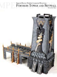 Fortress Of Redemption, Terrain - Fortress Tower and Skywall - Gallery - DakkaDakka Game Terrain, 40k Terrain, Wargaming Terrain, Diorama, Dark Angels 40k, Ultramarines, 40k Armies, Warhammer Terrain, Warhammer Models