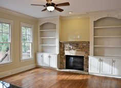 built-in shelves around fireplace | ... [ALotnumber]Cozy Keeping Room Has Fireplace and Built-In Bookshelves